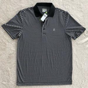 Men's IZOD Black and White Stripes Golf Polo Shirt